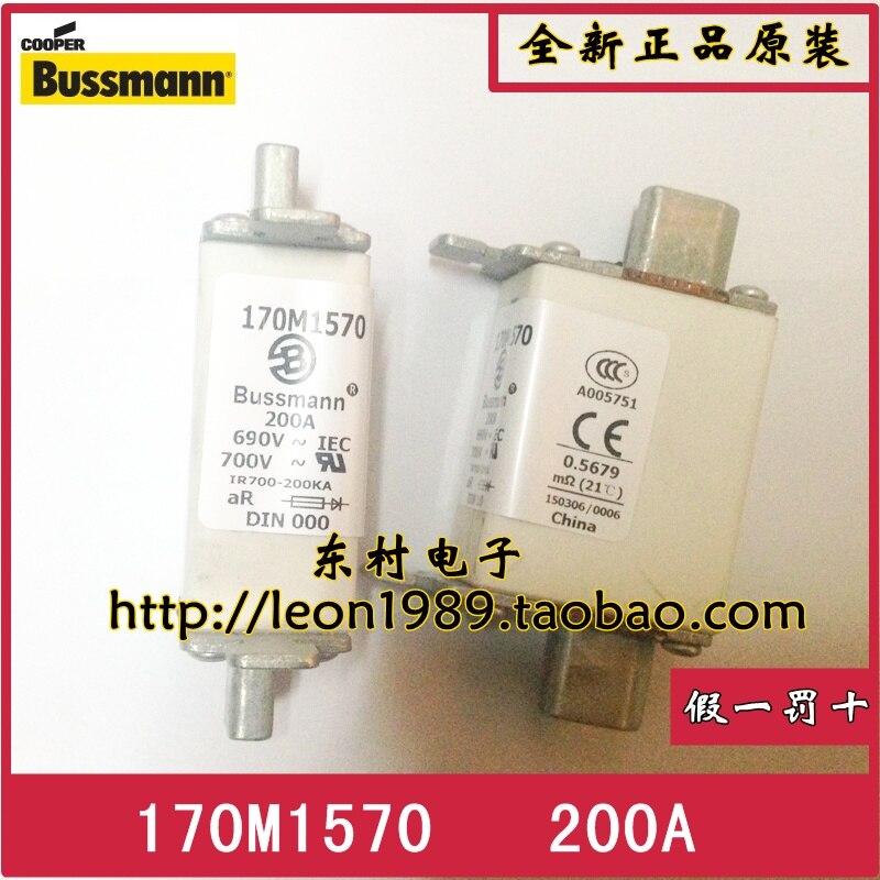 [SA]American Eaton BUSSMANN Fuses 170M1570 170M1570D 200A 690V fuse--3PCS/LOT<br>