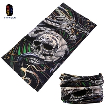 TTONCEN Seamless Cool Skull Bandana Elastic Microfiber Magic Fashion Wholesale Neck Tube Pirate Mask Cap Chinese Dragon Headband