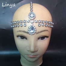 HC-178 Head Chain Wedding Bride Bridal Grecian Bohemian Boho Bollywood Hair Jewelry  Head Jewel