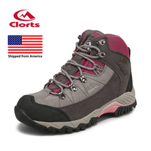 Shipped From USA Clorts Women Hiking Boots Waterproof Hiking Shoes Rubber Outdoor Sports Shoes 3B010A