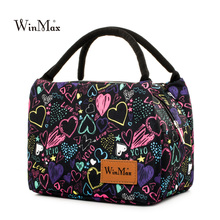 Winmax 2017 New Arrive colorful Insulated Lunch Bag Portable keep Food Safe warm Big Thermal Cooler business launch Box school(China)