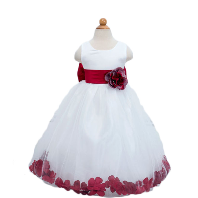 Summer Dresses For Children Girl Dress White Lace Dress Kids Tutu Dresses Beautiful Flowers Clothing Wedding Cloth Cute Clothes <br>