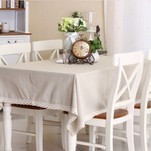 Simple Modern Woven Home Textile Table Cloth Cafe Tablecloths Cover High Quality Bohemian Style Lacework Solid Color Nepal Free(China)