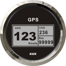 KUS Boat GPS Speedometer Digital LCD Speed Gauge SOG COG Knots Compass With GPS Antenna 85mm Marine Truck Car Motorcycle(China)