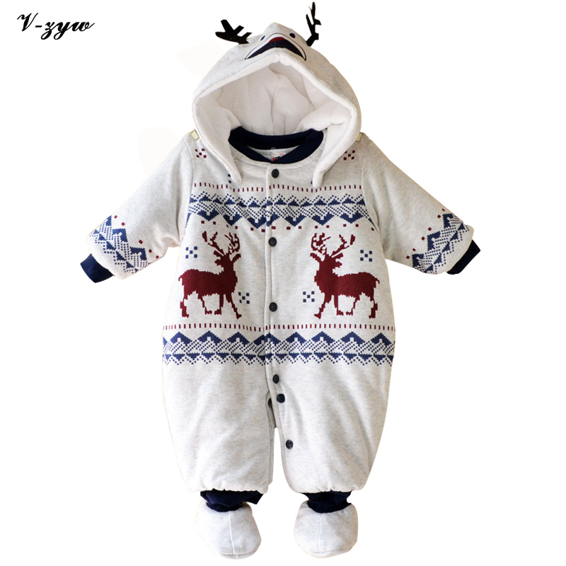 Winter Christmas Baby Rompers Long Sleeve Baby Boy Clothing Jumpsuit Children Clothing Newborn Baby Clothes Cotton Baby Rompers<br>