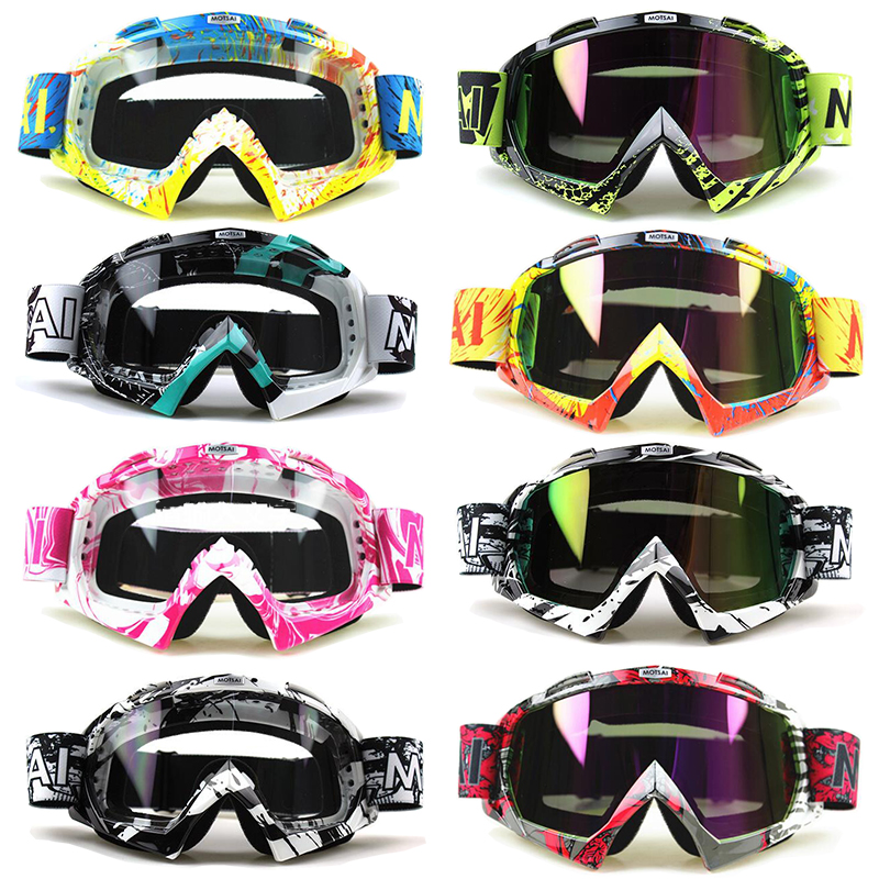 Motorcycle Motocross Goggles Glasses for Helmet Racing Gafas Dirt Bike ATV MX Goggles Clear Tinted Lens Off Road Adjustable<br><br>Aliexpress