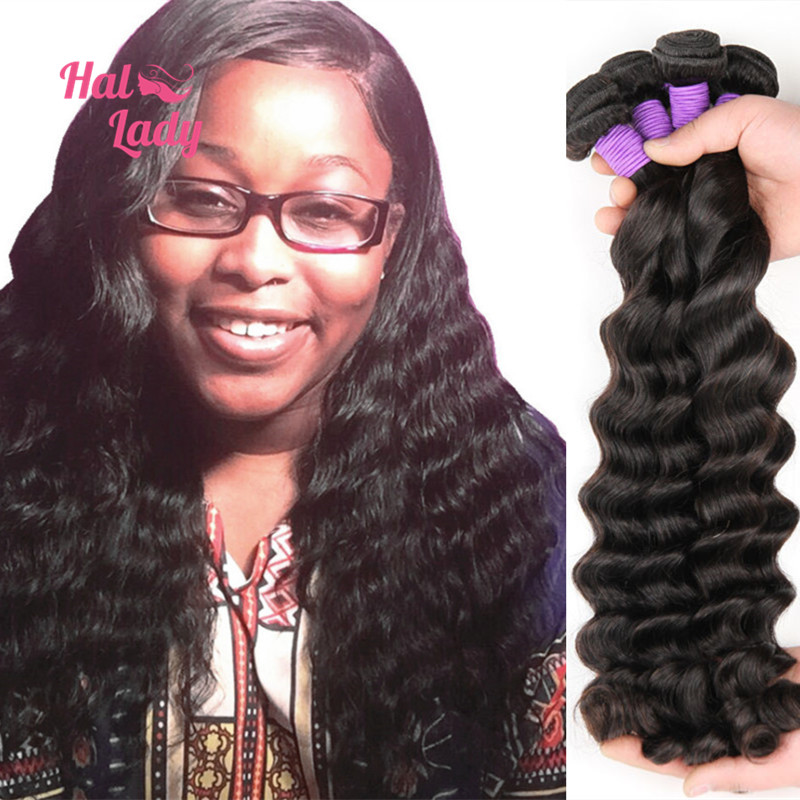 5Pcs/lot Peruvian Loose Deep Wave Virgin Hair Weaves Peruvian Loose Deep Wave Human Hair Extensions 7A Halo Lady Hair Products<br><br>Aliexpress