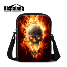 Dispalang customized design mini messenger bag for men cool skull printing small crossbody bags personalized ghost shoulder bags