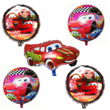 5pcs/lot happy Birthday Party Supplies Cartoon car Foil Balloons Inflatable children classic toys