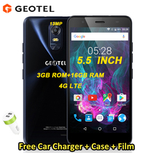GEOTEL NOTE 4G Smartphone MTK6737 3GB RAM 16GB ROM 5.5 inch 1280x720 IPS Quad Core Android 6.0 3200mAh 13MP camera Mobilephone(China)