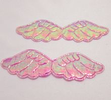 HOT 50pcs AB pretty Angel wings Appliques /diy Wedding decoration craft A123