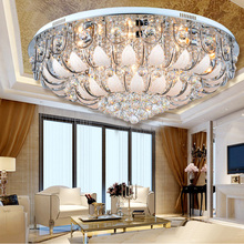 Star Hotel large luxury crystal lamp ceiling lamps villa modern led indoor lighting livingroom ceiling light cristal luminaria(China)