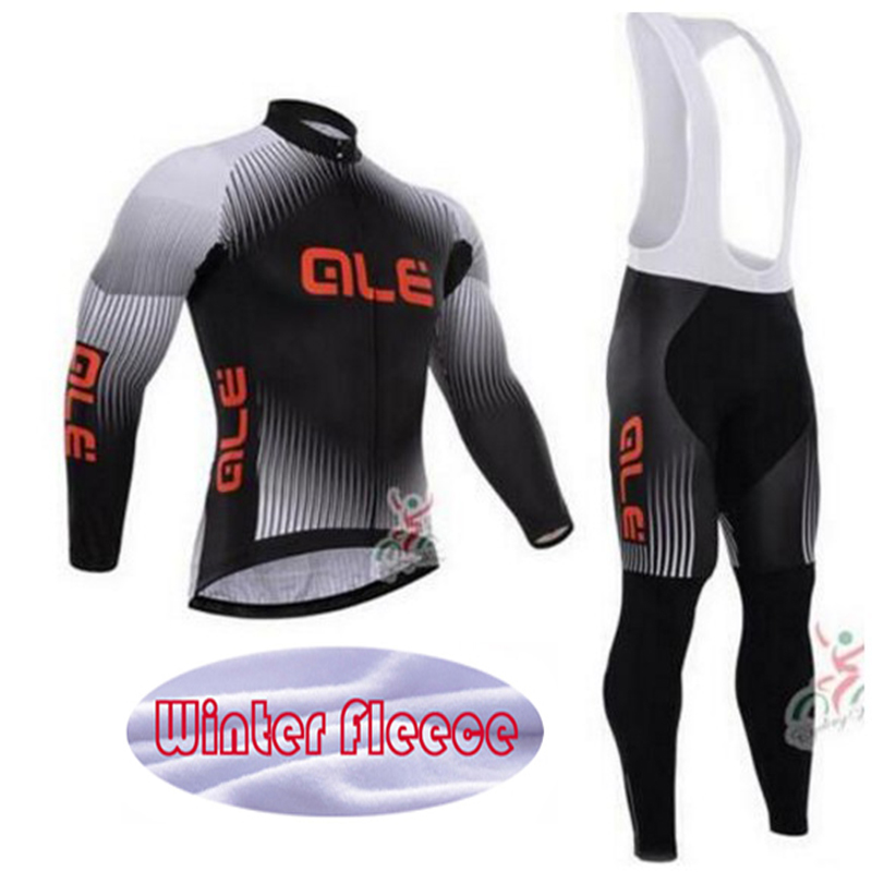 2016 Unisex GEL Breathable Pad Winter Thermal Fleece Cycling Clothing Jersey Bike clothes Ropa ciclismo invierno ALE Pro Team<br>