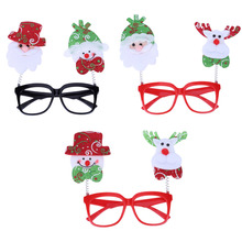 Plastic Party Glasses Halloween Pumpkin Skull Eyewear Dress Up Glasses Santa Decor Christmas Kids Gifts Decoration(China)