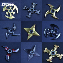 YNYNOO Shuriken Turn darts Fidgets Cubes Spinner Toy Rotary Tri-spinner Naruto Shuriken Dragon Blade Sword in Hand Cospaly Toys
