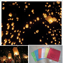 Cylinder shape 13pcs/lot hand made paper sky lantern flying wish balloon wire free wedding/party decorations free shipping