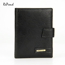 Top Quality Genuine Leather Men's Medium Long Hasp Wallet Male Fashion Brand Portable Cash Purse Casual Clutch Bag Coin Wallets