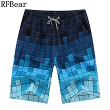 RFBear Brand Hot Selling Board Shorts 2017 New man Summer Fashion Casual Shorts Plaid Quick-drying High Quality Size beach L 4XL(China)