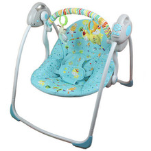 Electric Baby Bouncer Swing Newborn Baby Cradle Crib Automatic Baby Swing Rocker with Plug Adapter