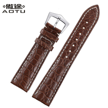 Genuine Leather Watchbands For Patek Philippe 20mm Men Watch Straps Crocodile Pattern Watch Belt For Women Bracelet Clock Strap