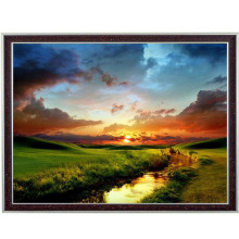 Grace Scenic grassland scenery sunset Needlework Cross stitch kits DMC Stylish Embroidery,Patterns Cross-Stitching DIY Handmade