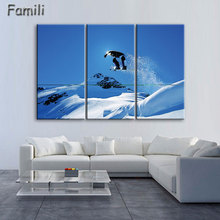 3Pcs/Set Surf On The Sea Canvas Printings Ski Doo Freeride Painting Wall Art Home Decoration Poster Printed Canvas Unframed