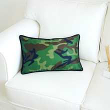 DUNXDECO Cushion Cover Waist Decorative Pillow Case 30x50CM Fashion Camouflage Nylon Coussin Home Office Modern Sofa Decoration(China)