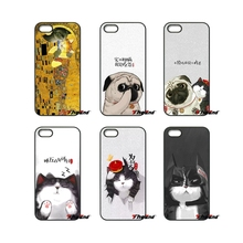 For iPod Touch iPhone 4 4S 5 5S 5C SE 6 6S 7 Plus Samung Galaxy A3 A5 J3 J5 J7 2016 2017 Funny Fat Cat Design Painted Case Cover