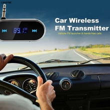 Practical Car Kit Wireless FM Transmitter MP3 Player USB SD LCD Remote Handsfree High fidelity, digital PLL makes the transmisso