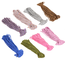 8 Colors Paracord 550 Parachute Cord Lanyard Rope Mil Spec Type III 7Strand 100FT Survival Rope For Outdoor Hiking Climbing