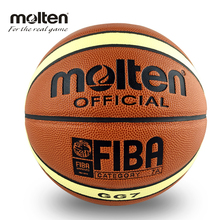 Hot Sale Man's Basketball Molten GG7 Basketball Size 7 PU Leather Homme Basketball GG7 Category 7A With Net Bag Needle(China)