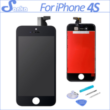 AAA Quality For iPhone 4S LCD Screen Display Digitizer Touch Screen Mobile Phone Parts Assembly Replacement &Tools Black(China)