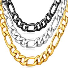 Men Figaro Chain Necklace Punk Rock Cuban Chain Gift Wholesale Men Chain Hiphop Statement Necklace 5 Sizes Mens Gift  N2011G