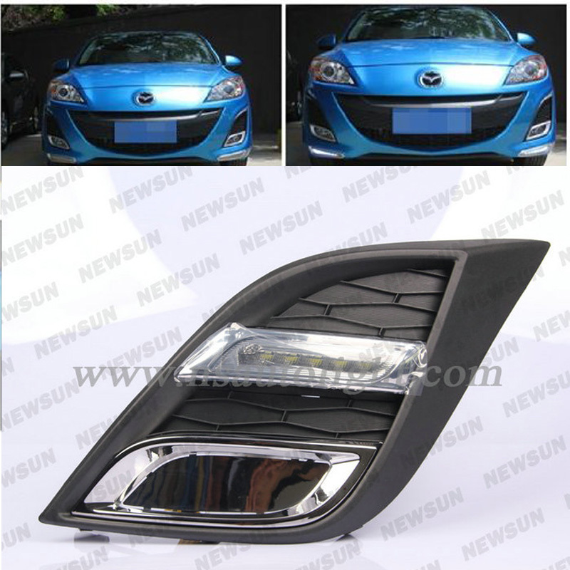 Good Quality ABS Shell Super bright running lights/Daytime Running Light LED DRL for Mazda 3 Car 6 LED day driving light Bulbs<br><br>Aliexpress