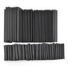 Hot Sale!!!127pc Black Heat Shrink Tube Power Tool Accessories Assortment Wrap Electrical Insulation Cable Tubing