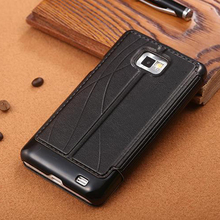 original leather case For samsung galaxy s2 s 2 i9100 case flip luxury back leather back cover Mobile Phone coque