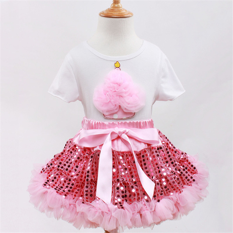 8 Designer Kids Party Dresses Pink Sequins Lace Pettiskirt with Ribbon Tutu Skirts Sweet Cotton Cake KT Minnie Baby Girl Dress<br><br>Aliexpress
