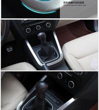 Trim stainless steel gear panel decoration sticker cover auto accessories for Volkswagen Jetta MK6 2012 2013 2014(China)