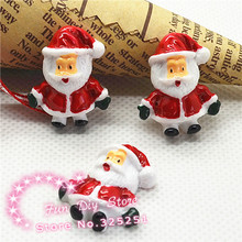 wholesale resin Christmas Father Flat Back cabochon for decoration 50pcs/lot 19*24mm(China)