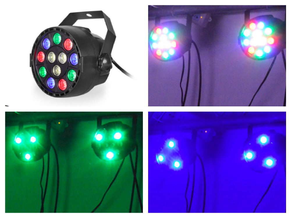 1pcs/lot, Mini LED Par Light 12x1w RGBW Small 12W led par64 sound active disco ktv dj club party nightclub bar stage lighting<br>