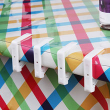4 PCS Plastic Table Cover Cloth Stainless Steel Tablecloth Clip Clamp Holder Wedding