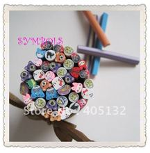Free Shipping 5MM 100pcs-Mixed Cute Animal Cane Fancy Nail Art  Polymer Clay Mixed Animal Series