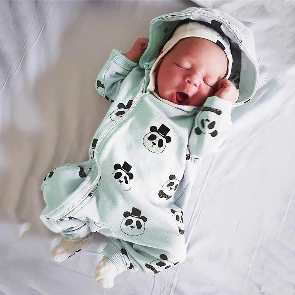 9154b09a2b3 Infant Baby Girl Boy Toddler Hooded Romper Jumpsuit Cartoon Panda Zipper  Clothes New Year s costumes child s