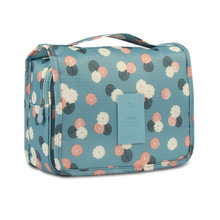 Flower printed travel set wash bag hanging waterproof behind door Desk Makeup Organizer pouch toiletry storage bag Bulk Nylon