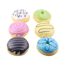 1 Piece 8cm Soft Candy Donut Mobile Phone Straps Keychain for Phone Decor Squishy Toys Slow Rebound Straps Kids Gift P15(China)