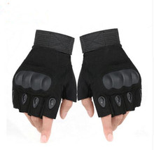 Half finger gloves Military Tactical Gloves Antiskid Outdoor Finger Mittens Winter Thermal Men Fighting Leather army military