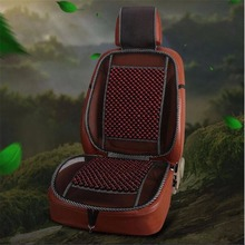Summer Cool Car Seat Cover Wood Bead Universal Truck Auto Car Seat Cushion Covers Breathable Lumbar Massage Waist Support