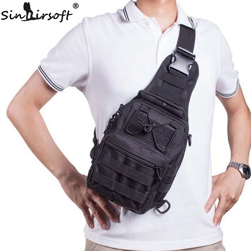 SINAIRSOFT Military Tactical Chest pack Fly Equipment Nylon Wading Chest Pack Cross body Sling Single Shoulder Bag LY0014