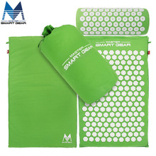 Yoga Mat Acupressure Mat and Pillow Set Back Body Massage Relieve Stress Tension Pain for Acupressure Massage & Relaxation Green(China)
