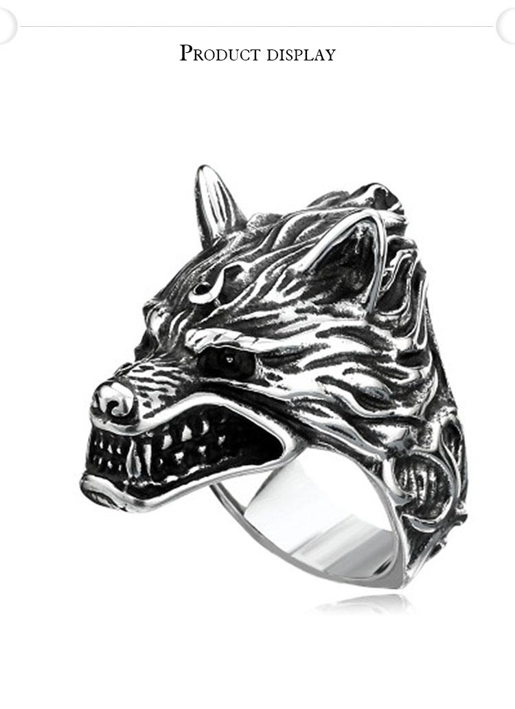 แหวนผู้ชายเท่ห์ๆ Code 043 แหวน หมาป่าดุ Game of thrones สแตนเลส6